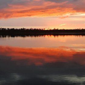 Stora Uppdjusen, en sjö som ligger i Älvdalen