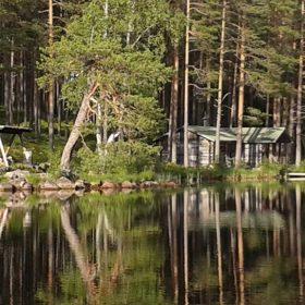 Slogbod i Navarsjön i Navardalen som ligger i Älvdalen