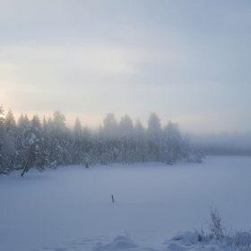 Rämmasjön på vintern